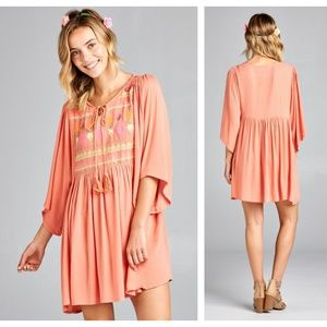 Tops - JUST IN---->Yummy Coral Plus Size Tunic